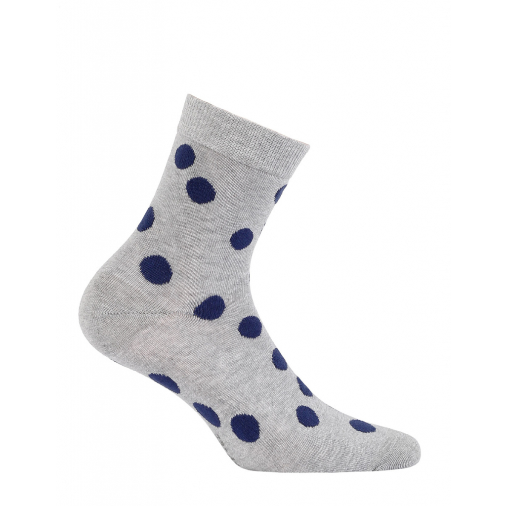 Dievčenské vzorované ponožky WOLA modré BODKY