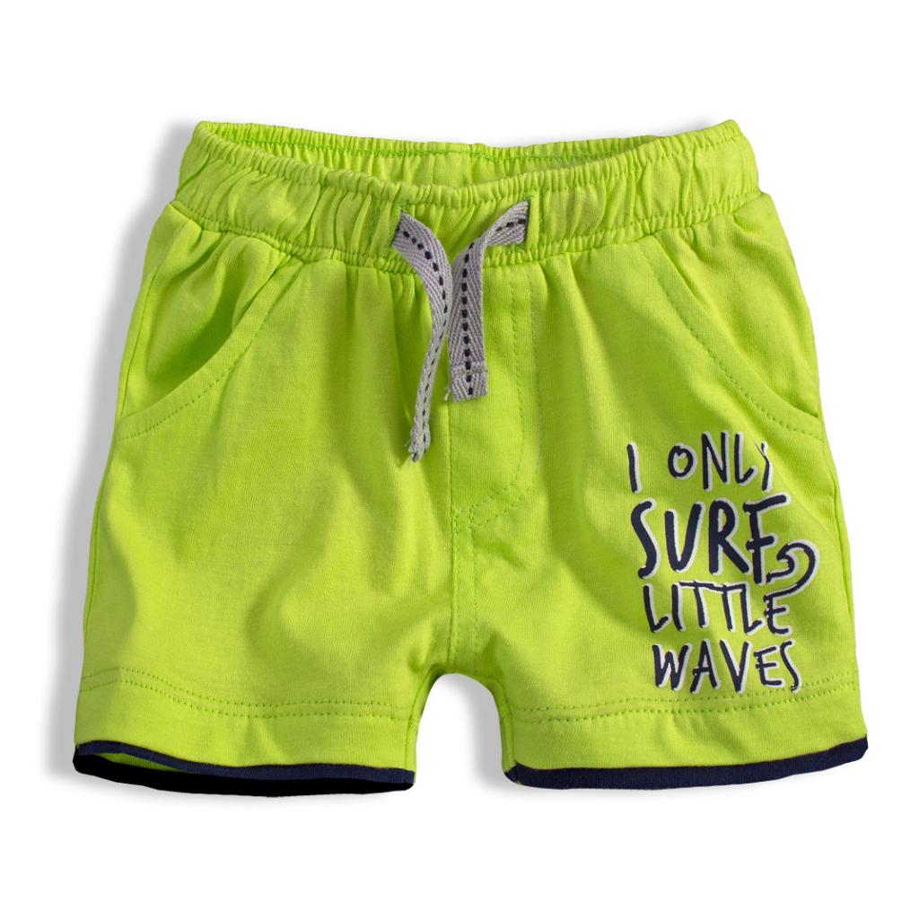 Chlapčenské šortky KNOT SO BAD LITTLE WAVES zelené
