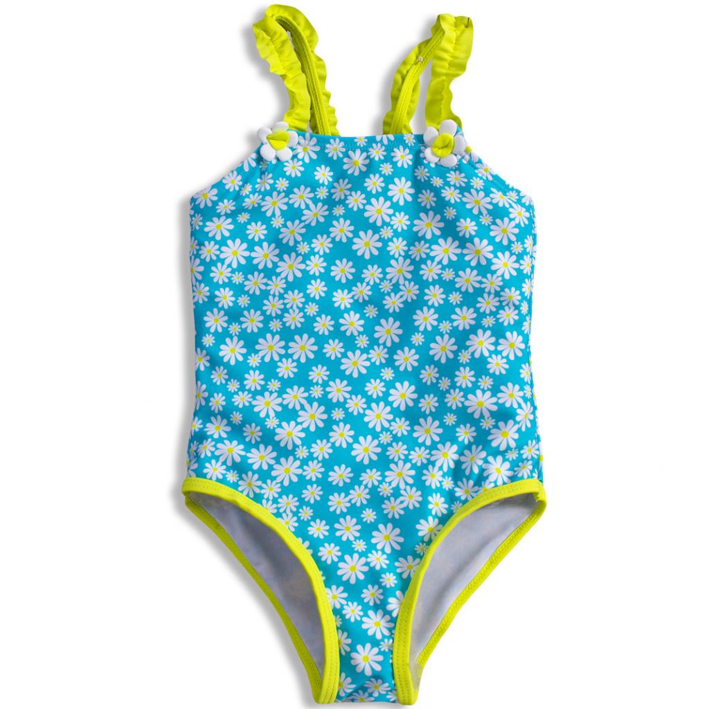 Dievčenské plavky KNOT SO BAD DAISY svetlomodré