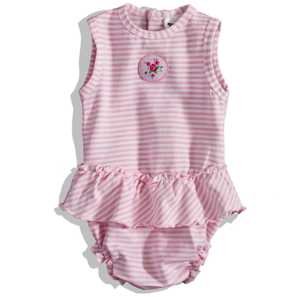 Dojčenské body DIRKJE PRÚŽKY ružové