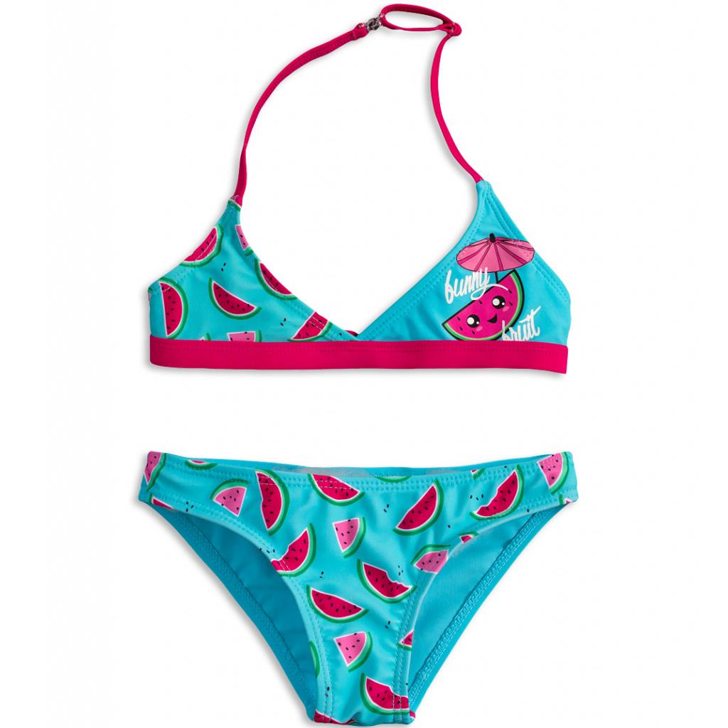 Dievčenské plavky KNOT SO BAD FUNNY FRUIT oranžové