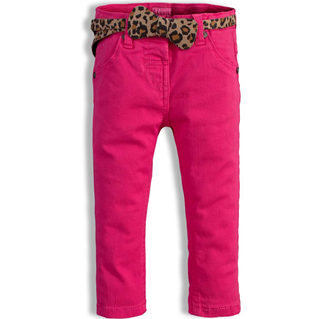 Dievčenské nohavice MINOTI PARTY tmavoružové