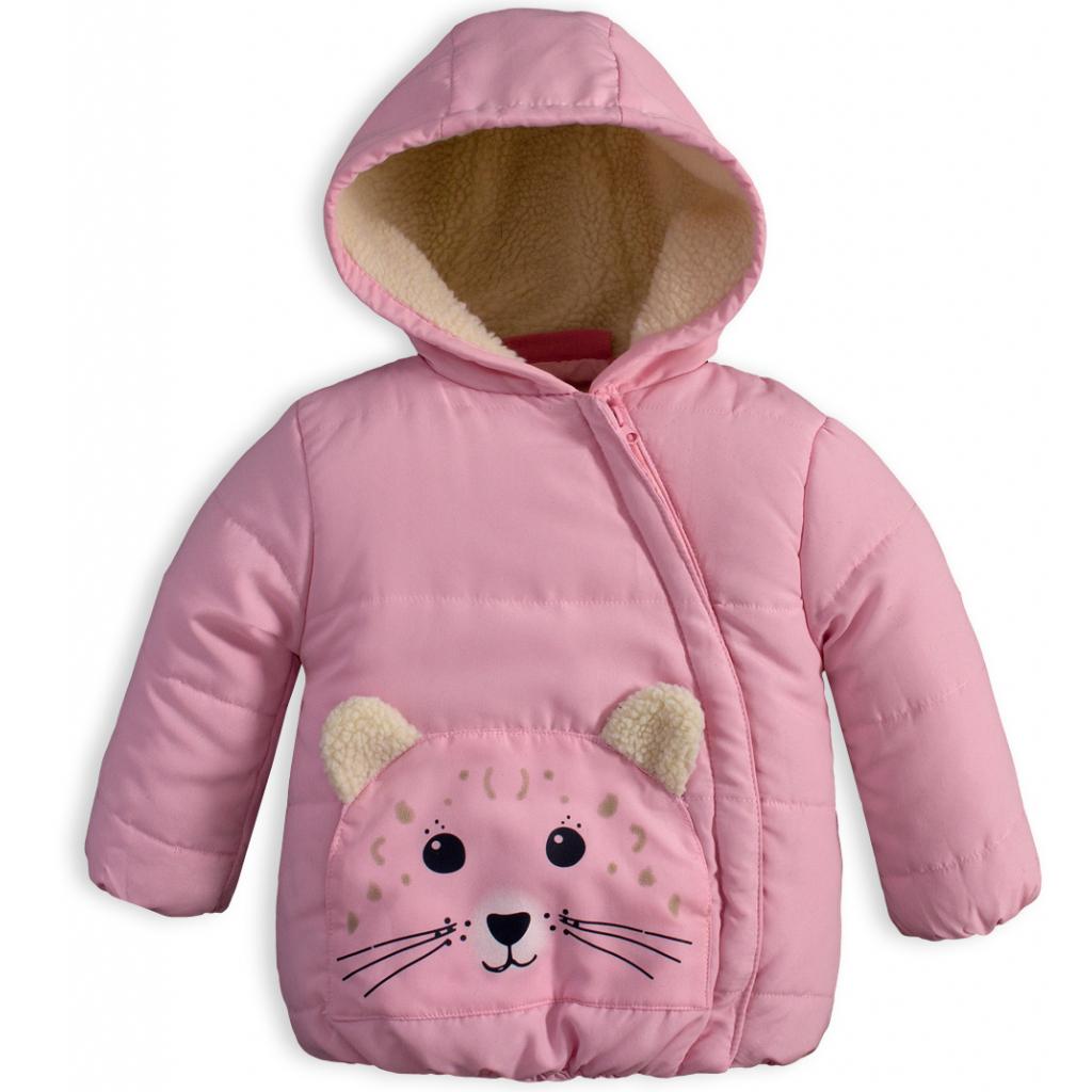 Detská zimná bunda KNOT SO BAD ANIMALS ružová