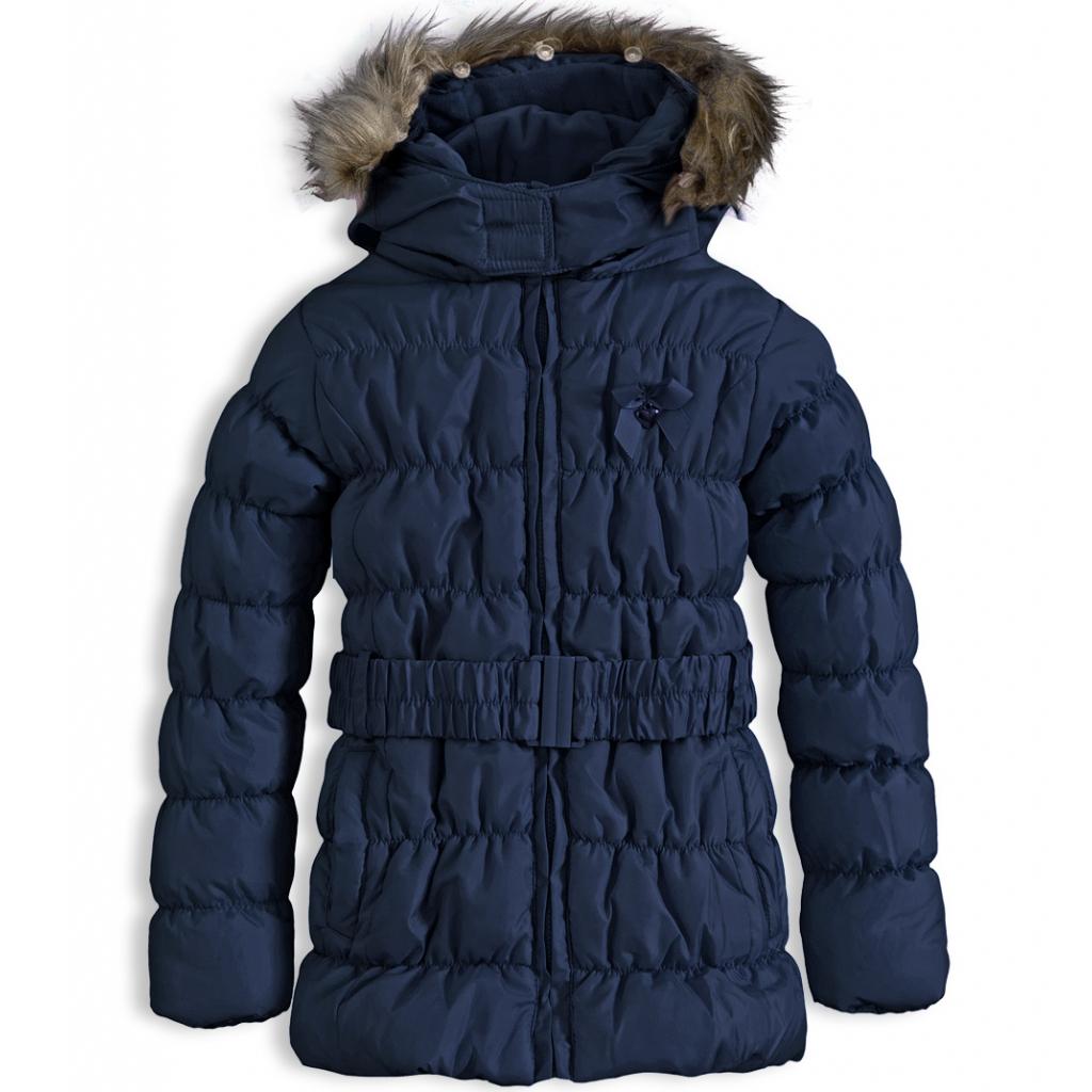 Dievčenská zimná bunda KNOT SO BAD HEART tmavomodrá