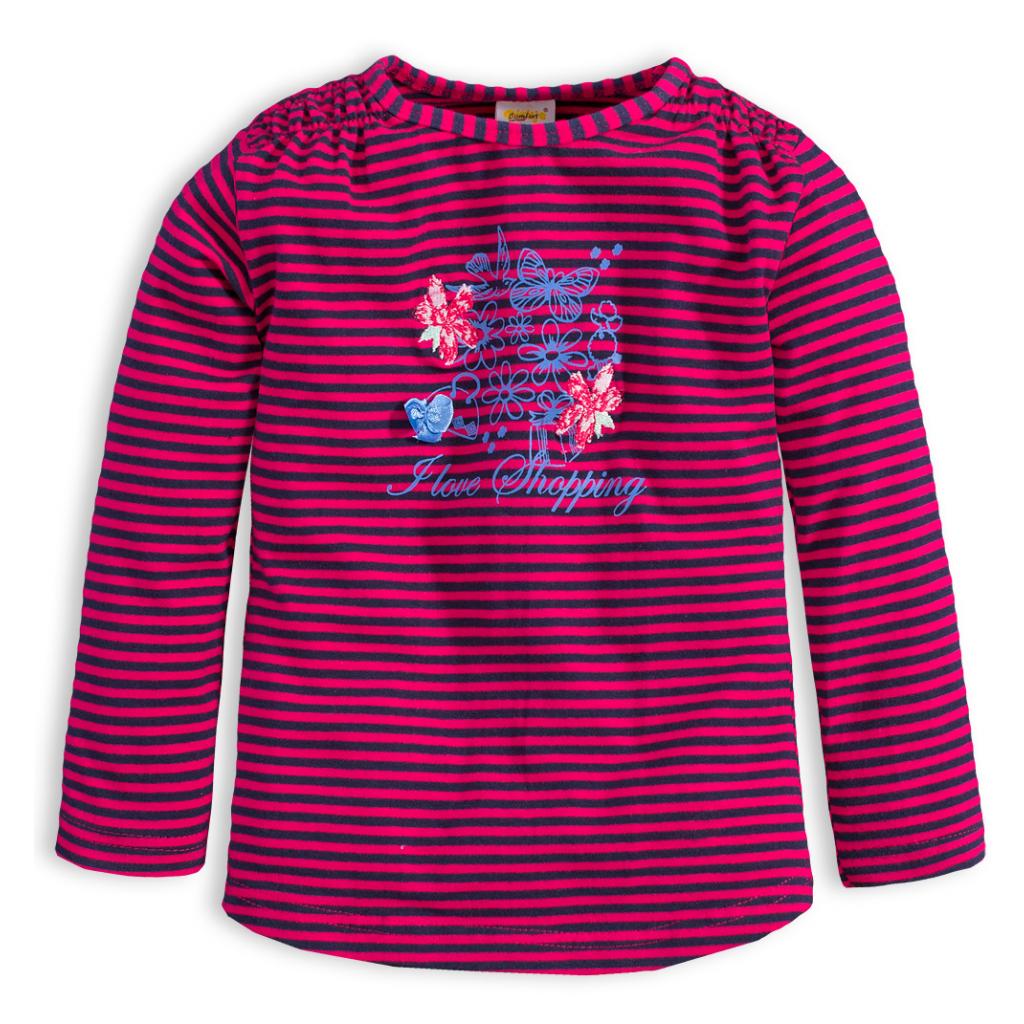 Tričko s dlhým rukávom DIRKJE STYLISH ružový prúžok