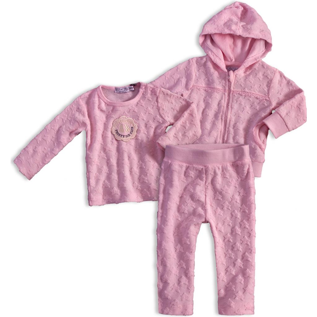 Dojčenská dievčenská súprava DIRKJE STARS ružová