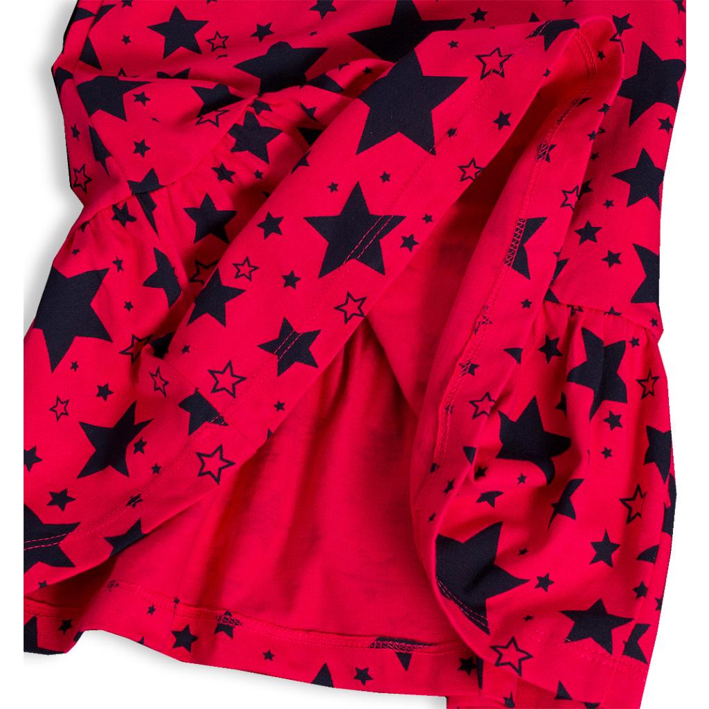 3c49f730dc67 Dievčenské bavlnené šaty LOSAN LIKE STAR tmavo ružové - PELEA.SK