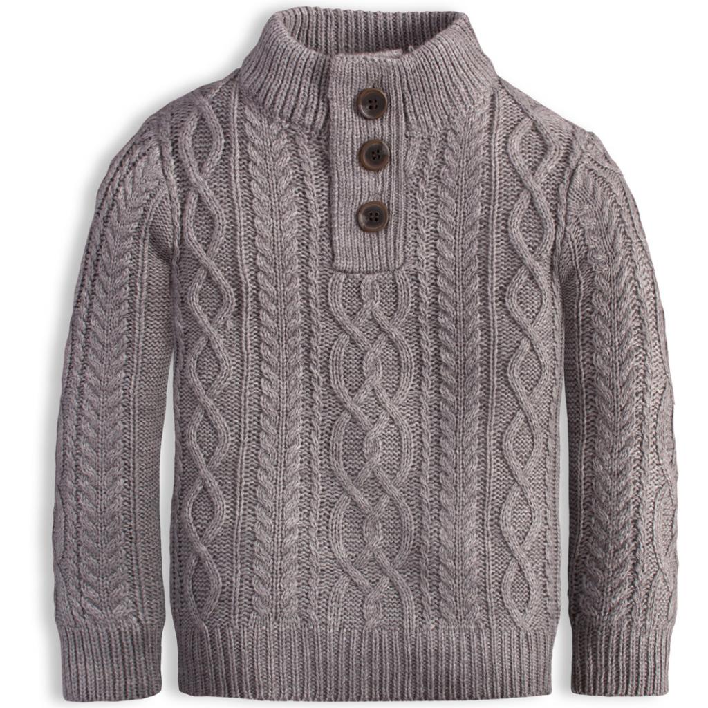 Chlapčenský sveter KNOT SO BAD STYLE šedý