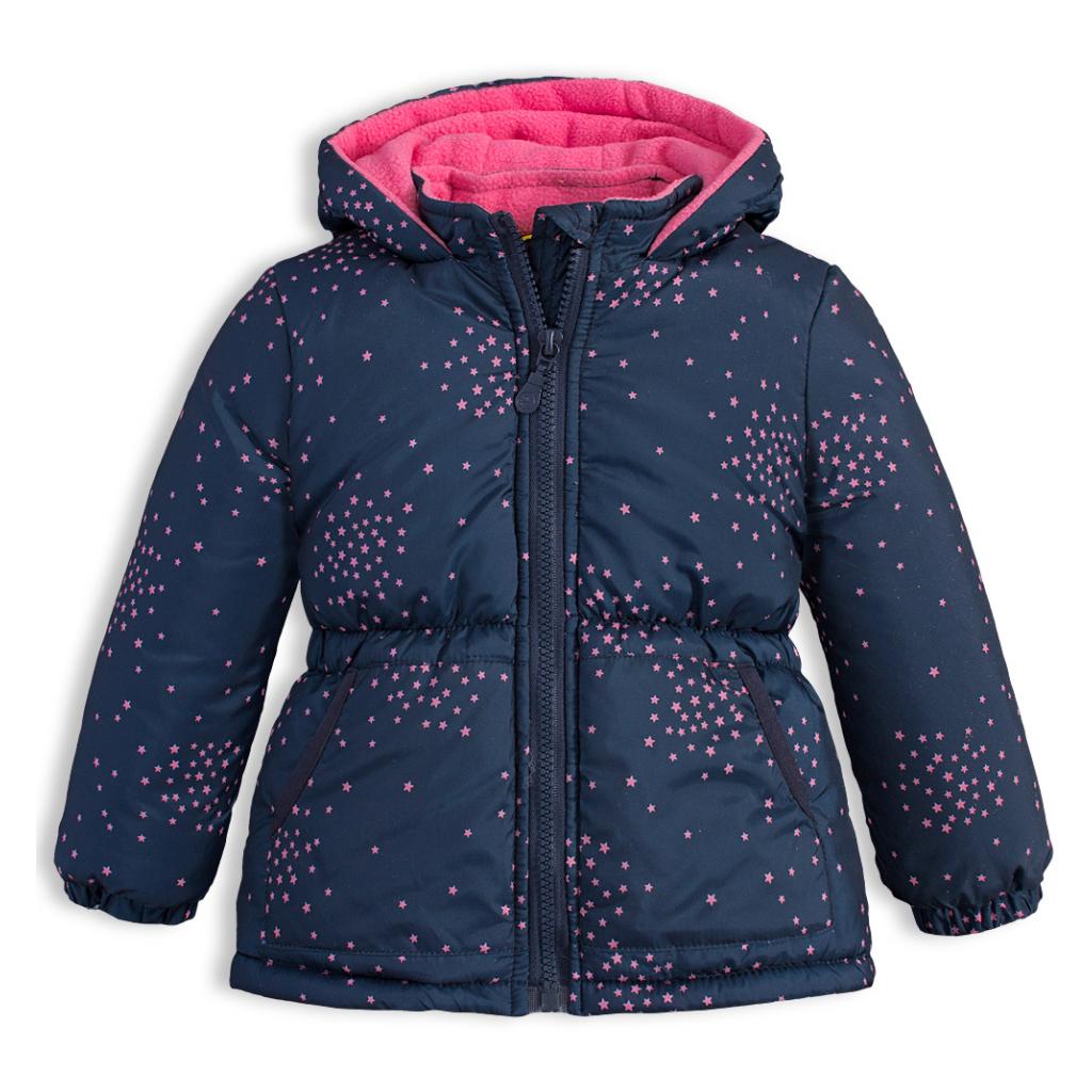 Detská zimná bunda LEMON BERET HVIEZDIČKY tmavo modrá