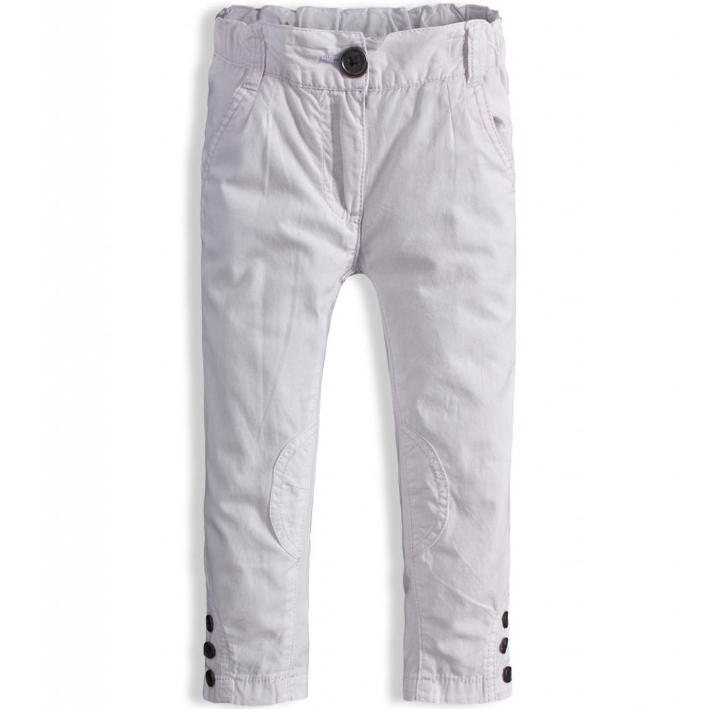 Dievčenské nohavice plátenné DIRKJE biele