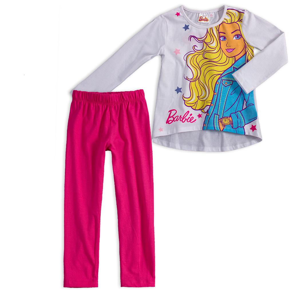 Dievčenské pyžamo BARBIE CHIC biele