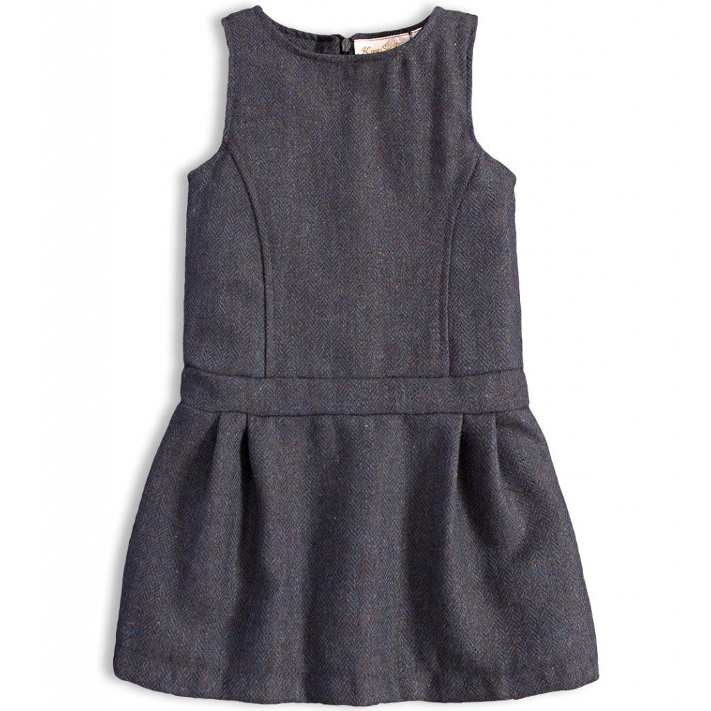 Dievčenské šaty KNOT SO BAD PERFECT STYLE šedé