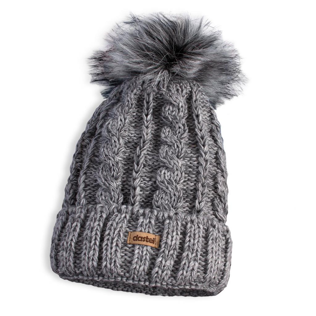 7e9329eb6 Detská pletená zimná čiapka DASTEL PLEJADA šedá - PELEA.SK