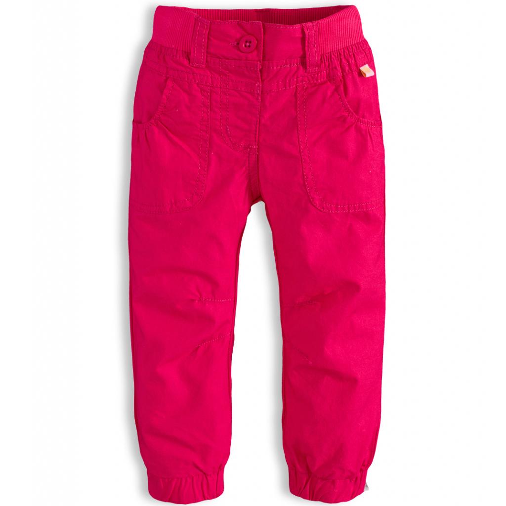 Dievčenské plátenné nohavice PEBBLESTONE ROSE ružové