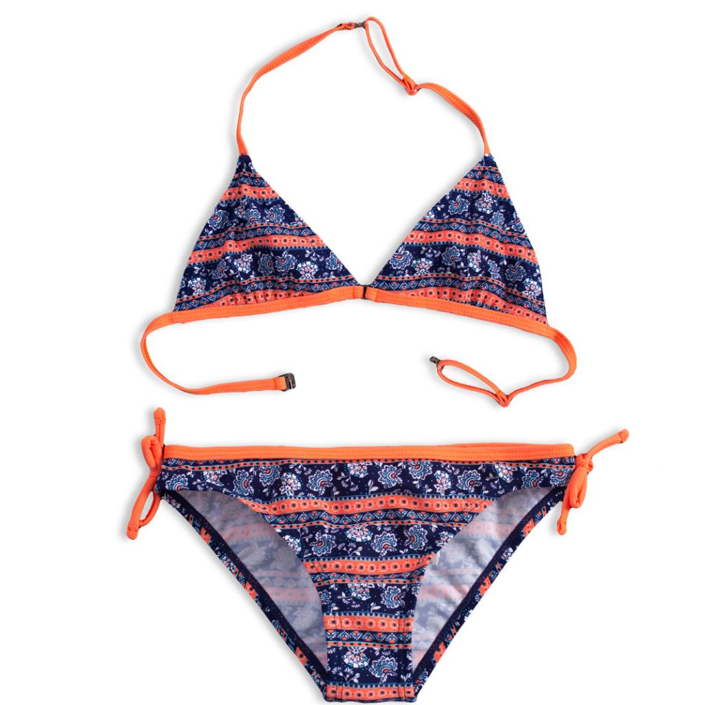 Dievčenské plavky KNOT SO BAD HOLIDAY oranžové