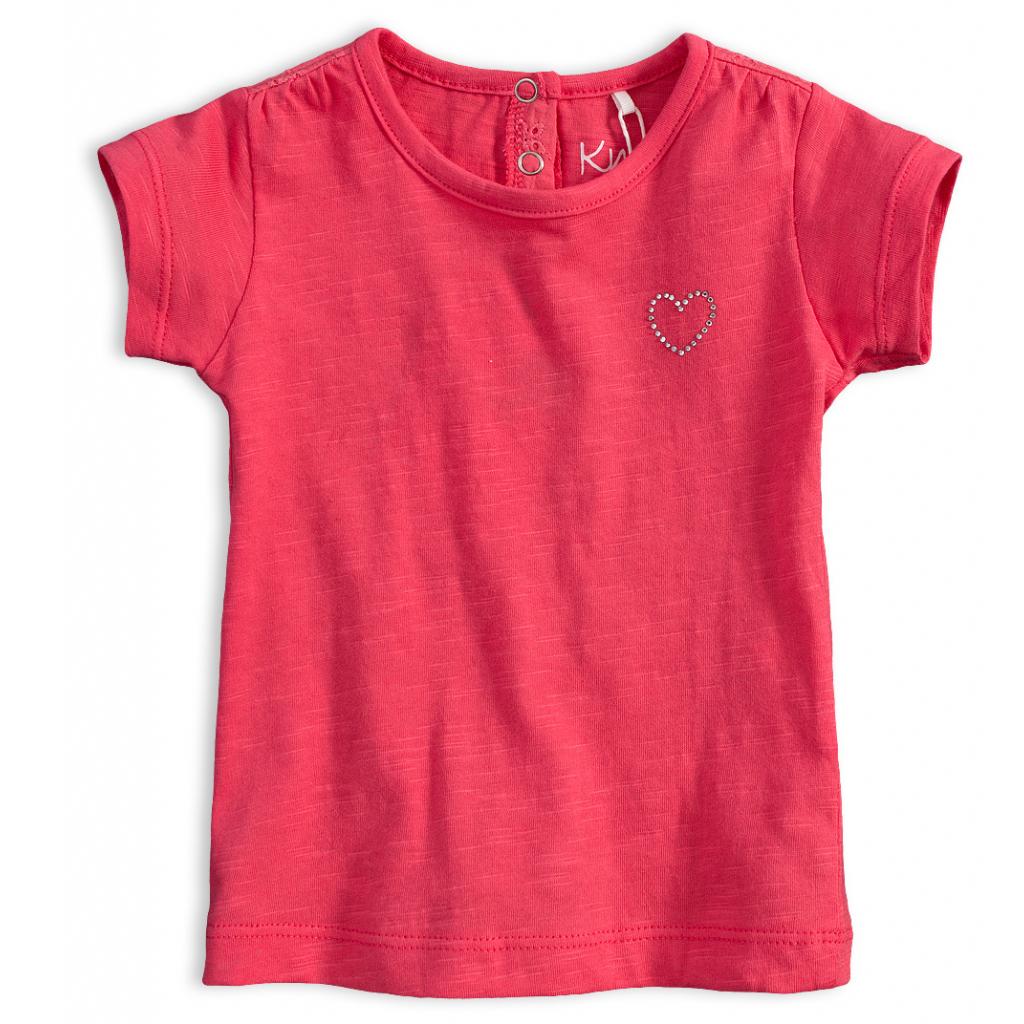 Dievčenské tričko KNOT SO BAD SRDIEČKO ružové