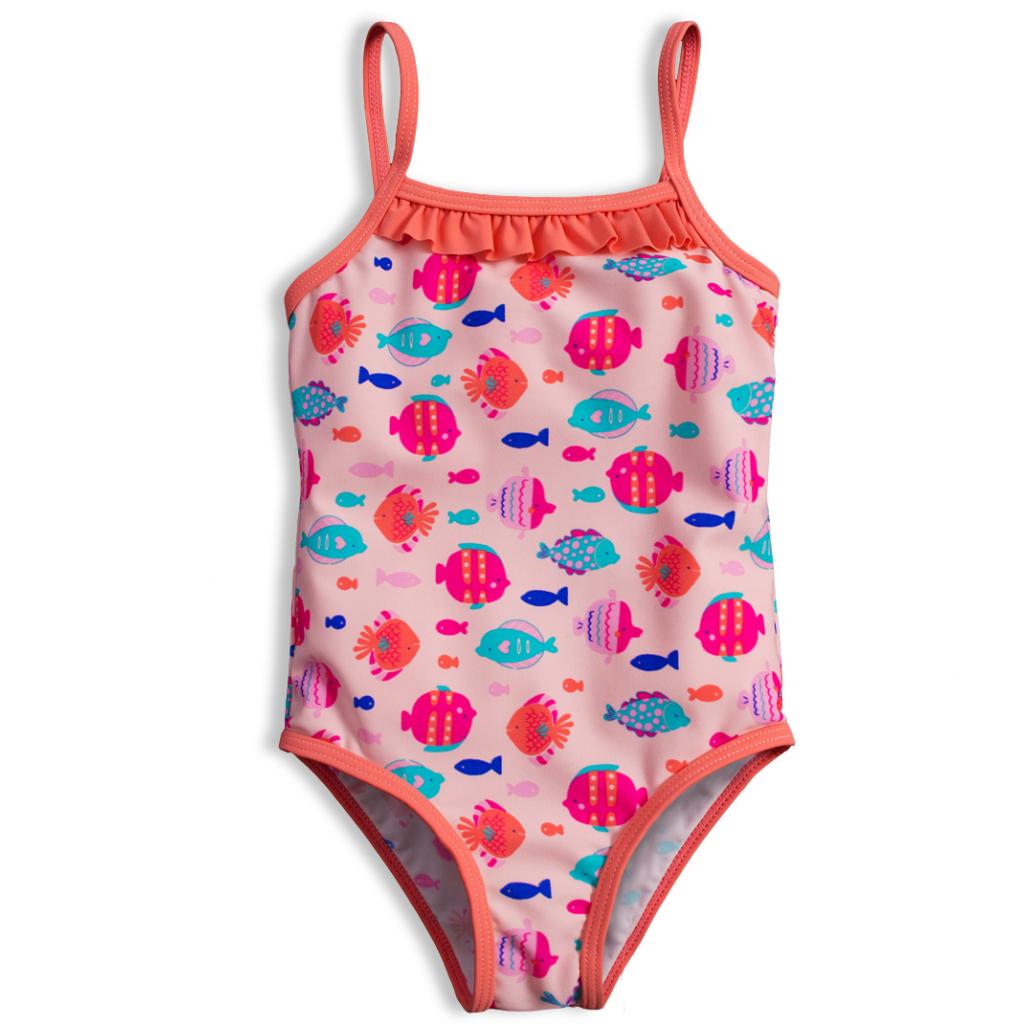 Dievčenské plavky KNOT SO BAD RYBKY ružové