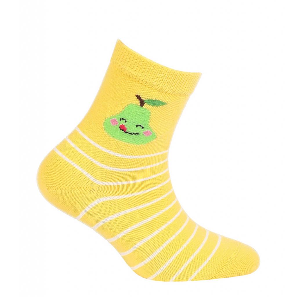 Dievčenské ponožky so vzorom GATTA HRUŠKA žlté