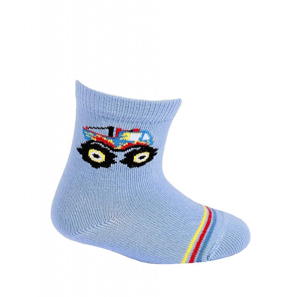 Dojčenské chlapčenské ponožky WOLA MONSTER TRUCK modré blue