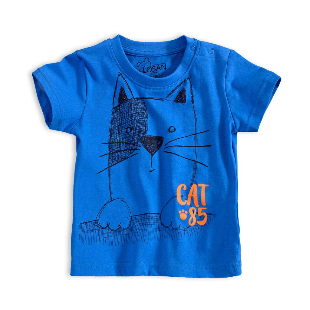 Detské tričko LOSAN MAČKA modré