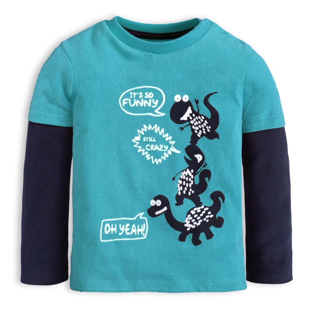 Chlapčenské tričko KNOT SO BAD CRAZY DINO modré