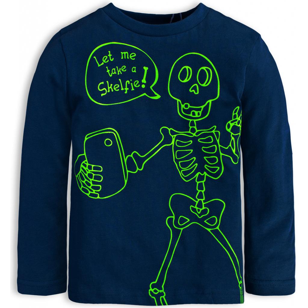 Chlapčenské tričko KNOT SO BAD SKELFIE tmavo modré