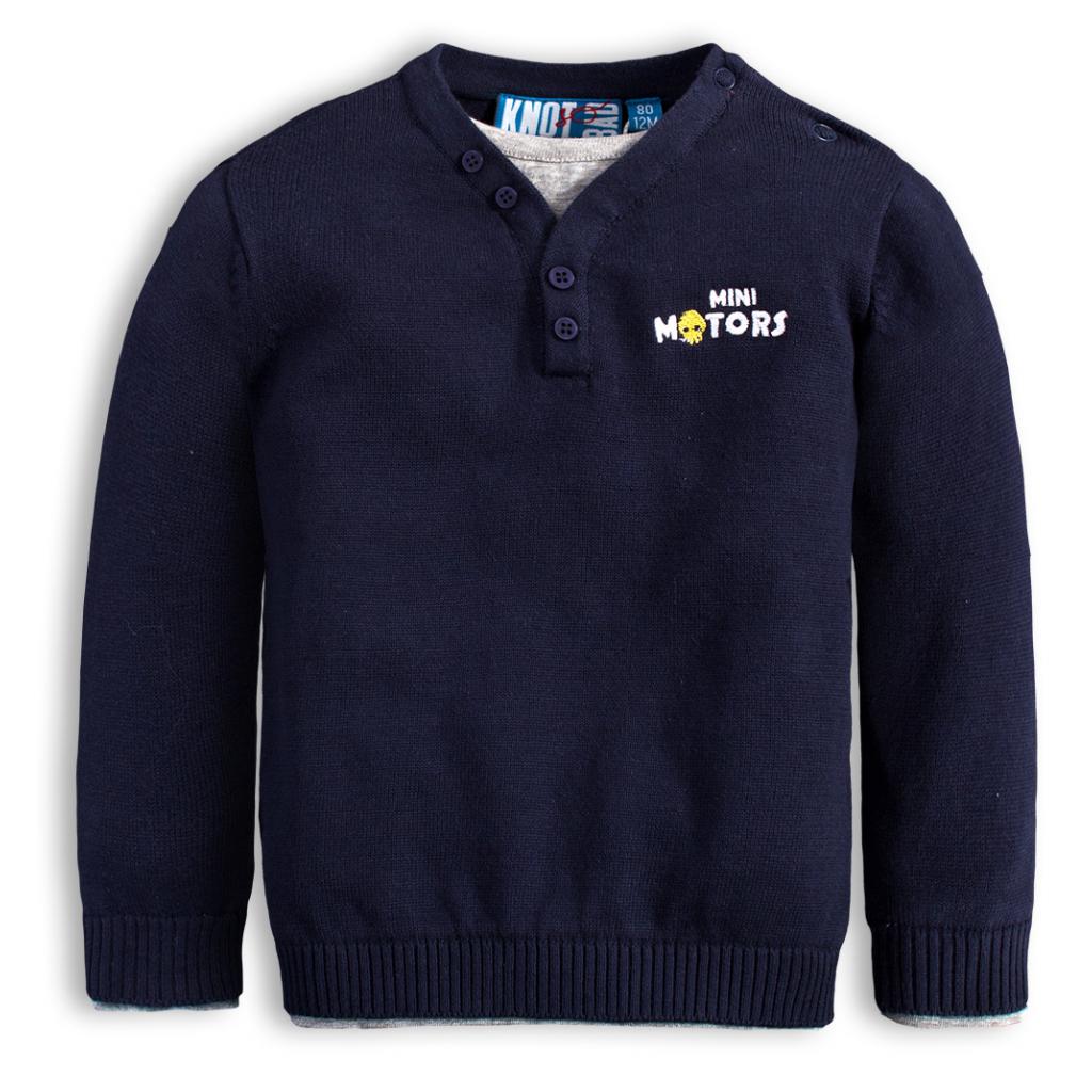 Chlapčenský sveter KNOT SO BAD MINI MOTORS modrý