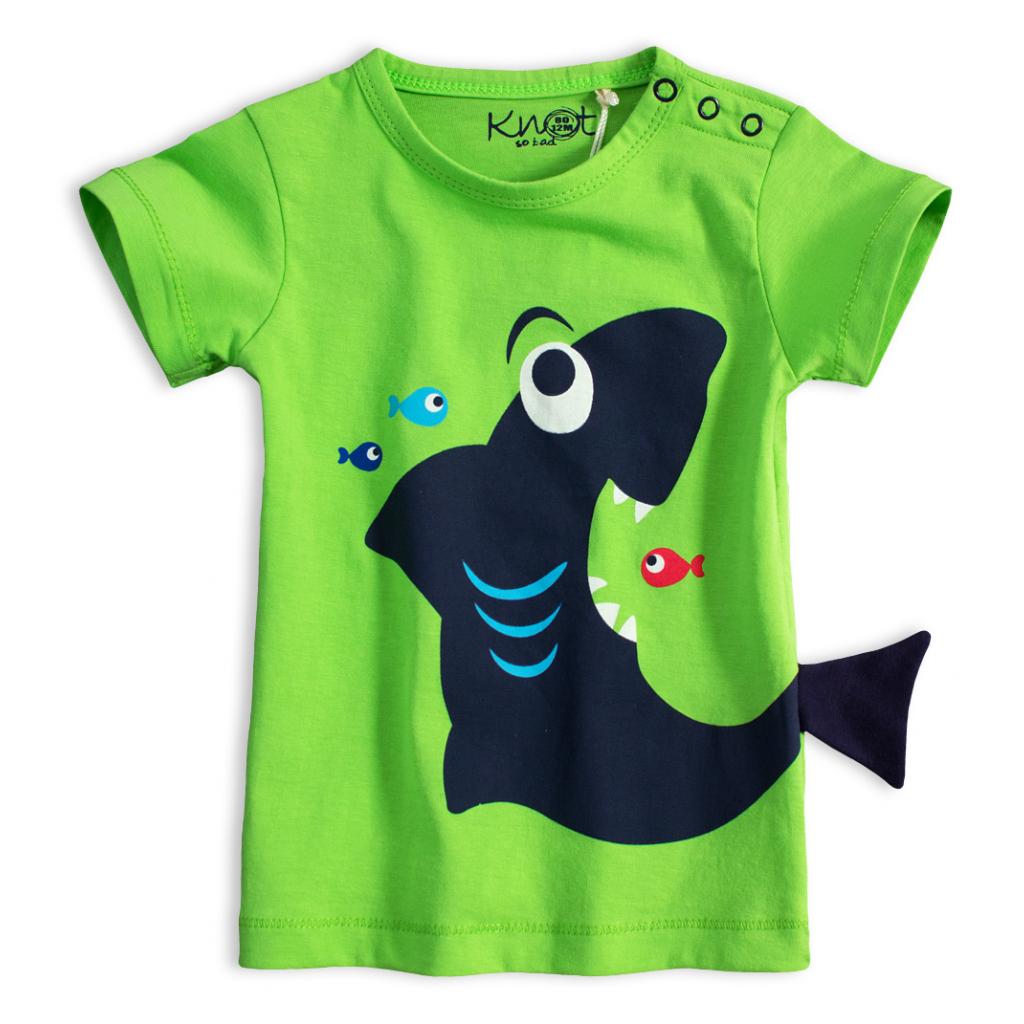 Detské tričko KNOT SO BAD ŽRALOK zelené