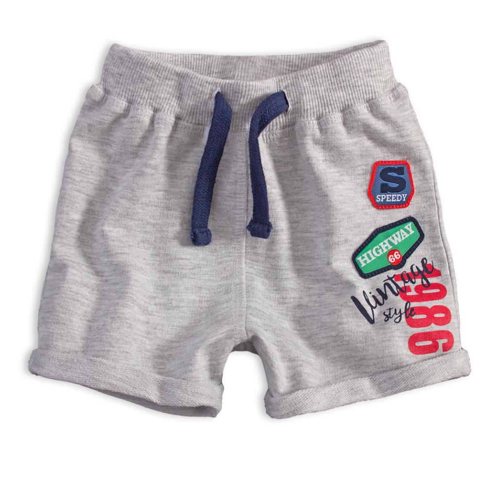 Dojčenské šortky KNOT SO BAD VINTAGE svetlo šedé