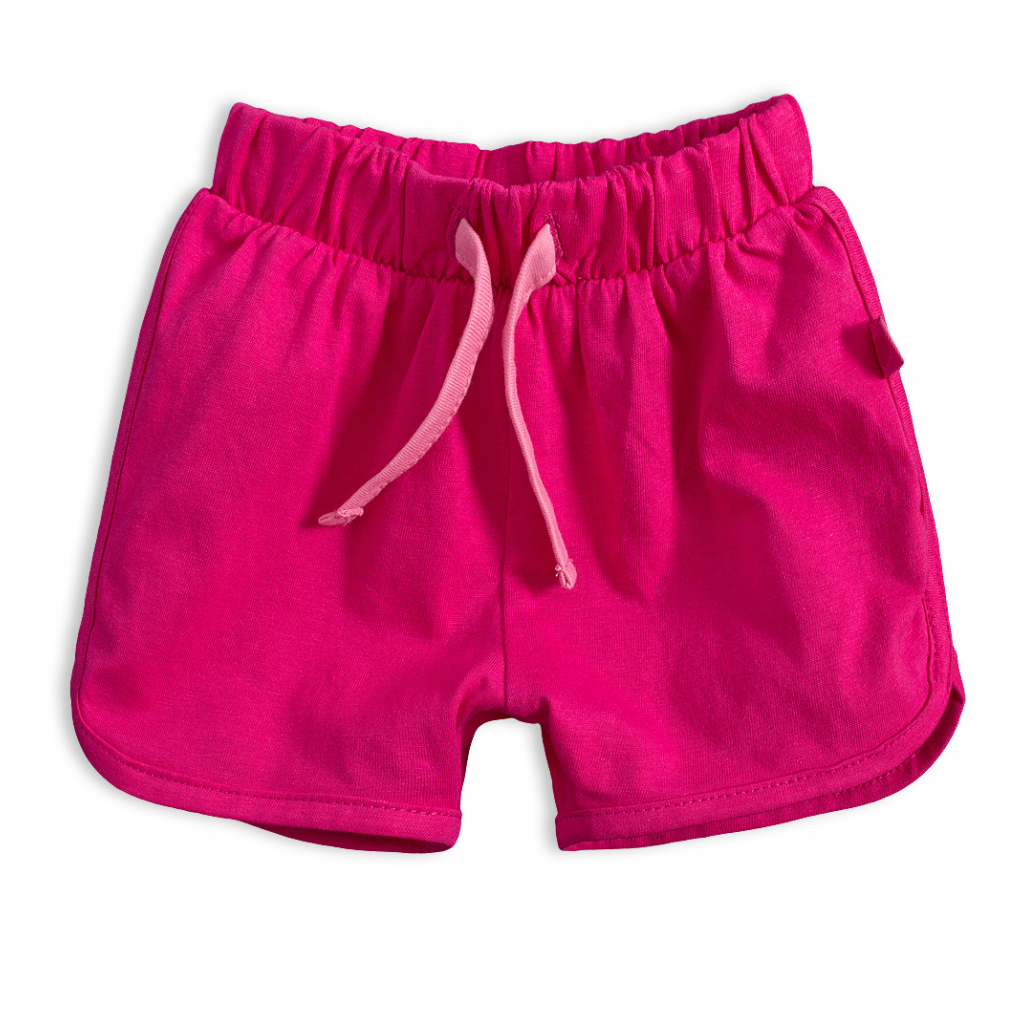 Dievčenské bavlnené šortky KNOT SO BAD SRDIEČKO ružové