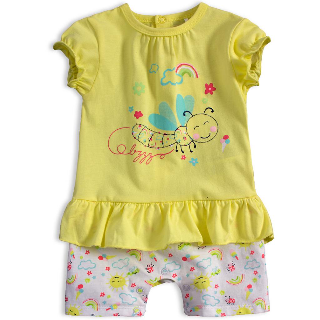 Dojčenský letný overal KNOT SO BAD VČIELKA žltý