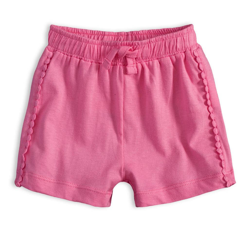 Dojčenské šortky KNOT SO BAD DOTS ružové