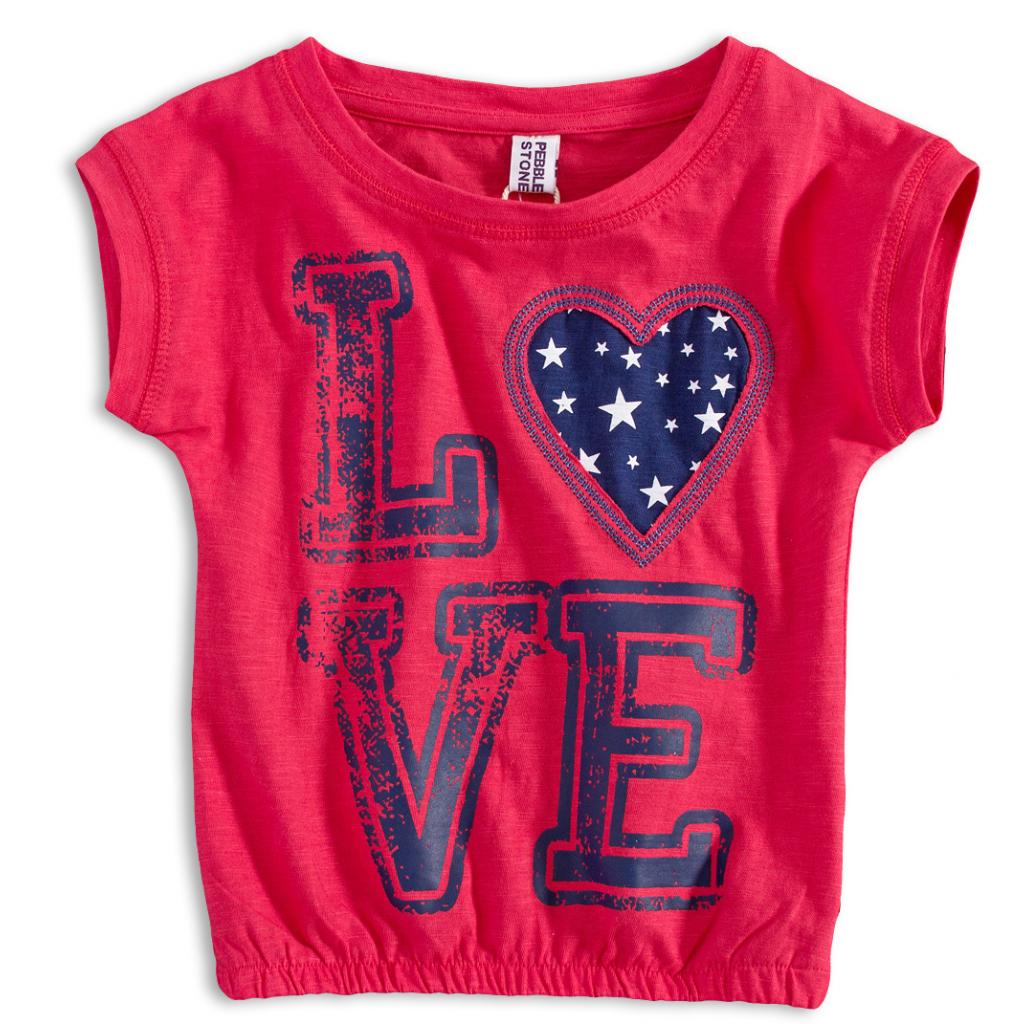 Dievčenské tričko PEBBLESTONE LOVE červené