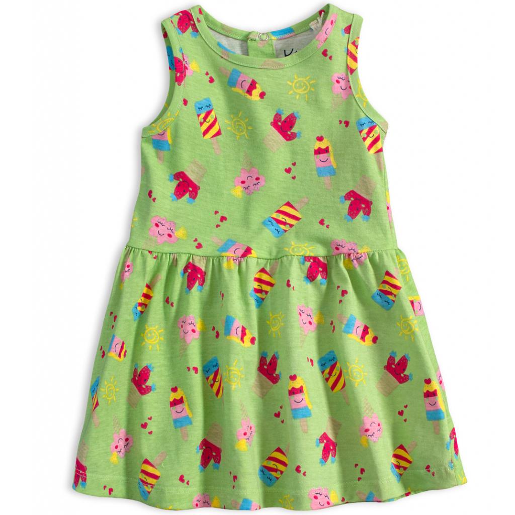 Dojčenské letné šaty KNOT SO BAD ICE CREAM zelené