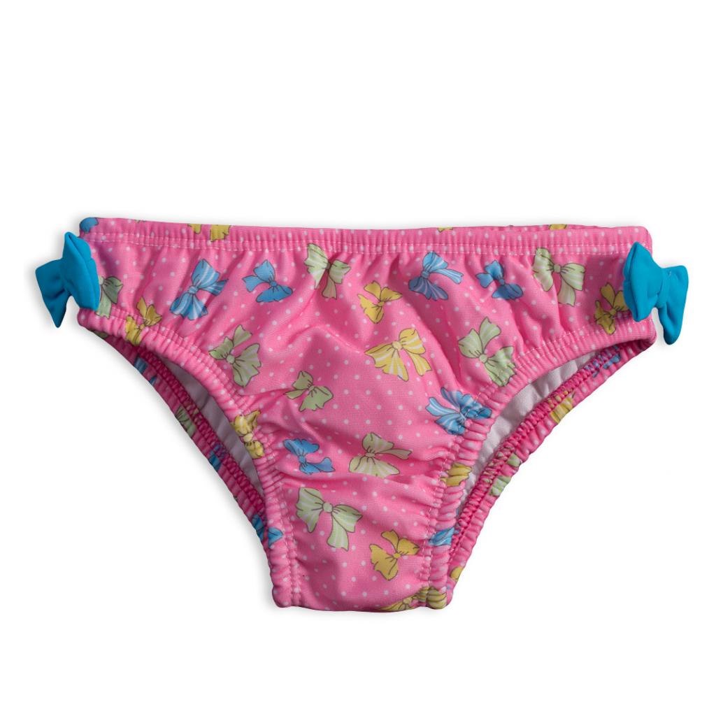 Dojčenské plavky KNOT SO BAD MAŠLIČKY ružové