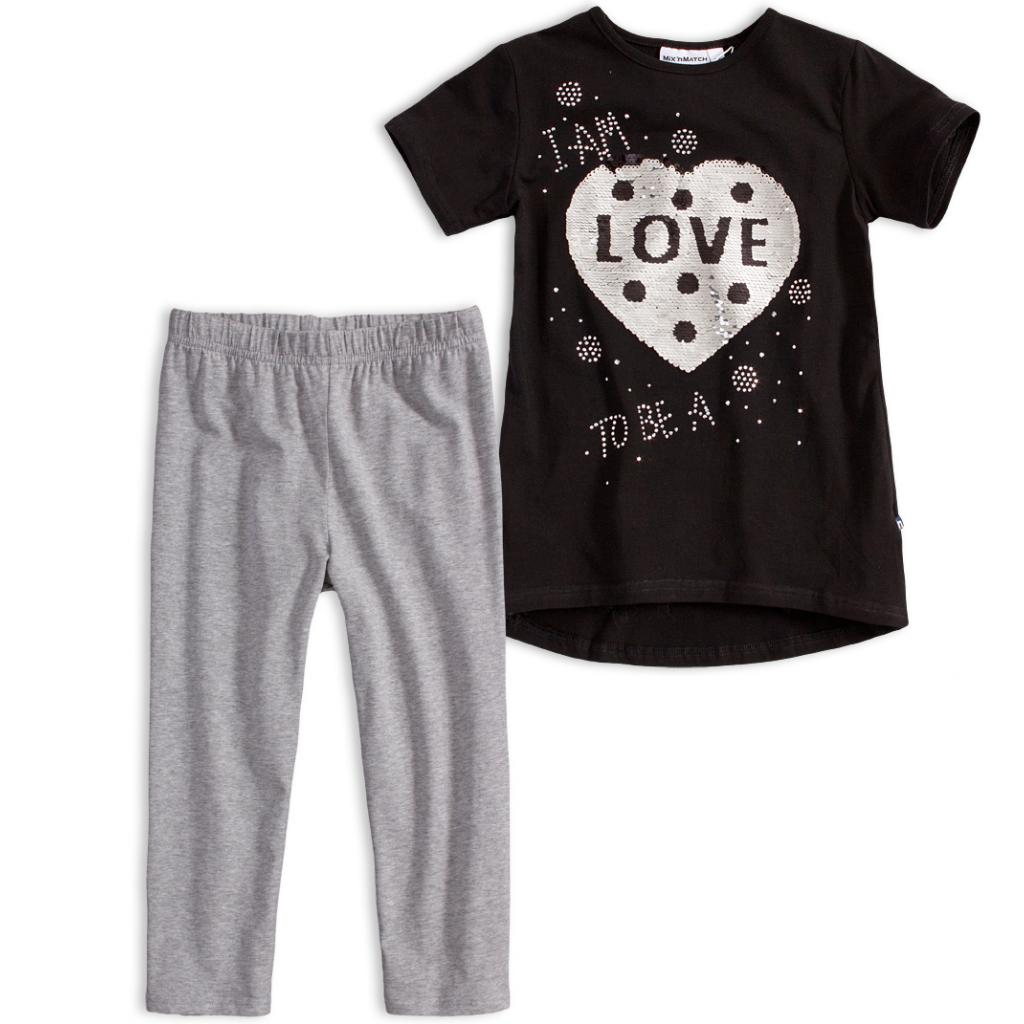Dievčenské tričko a legíny Mix´nMATCH LOVE čierna
