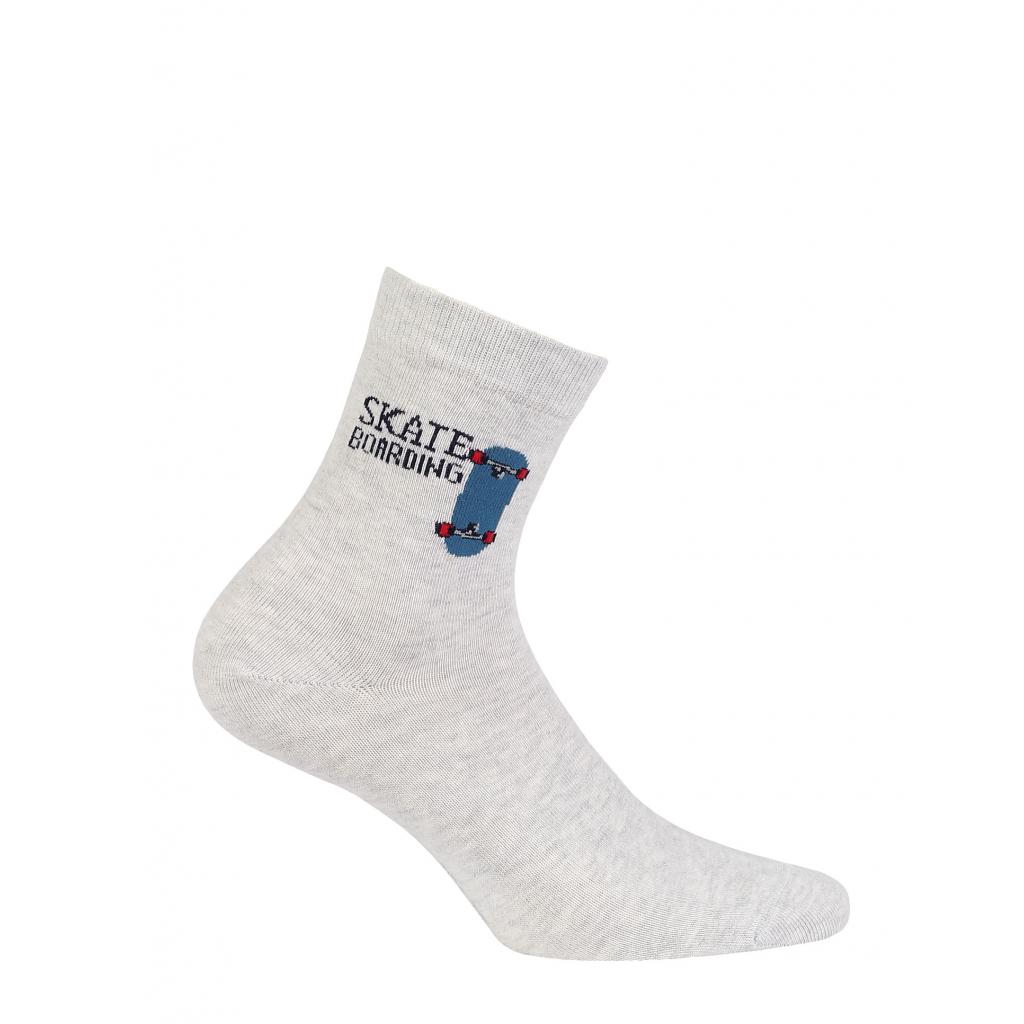 Chlapčenské vzorované ponožky WOLA SKATE šedé
