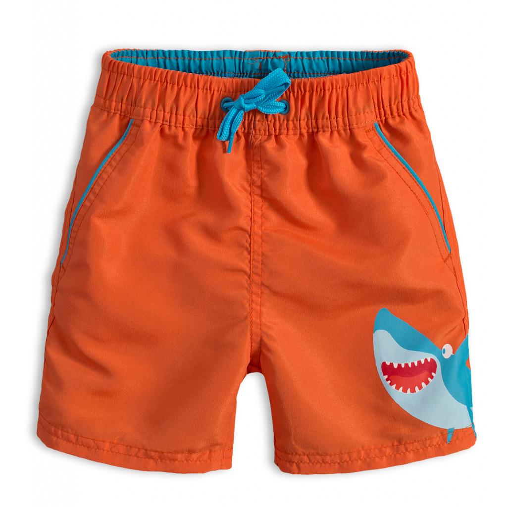 Chlapčenské kúpacie šortky KNOT SO BAD ŽRALOK oranžové