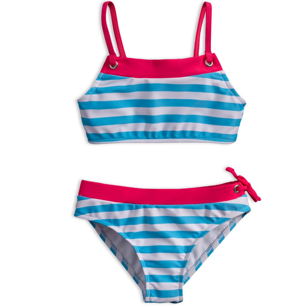 Dievčenské plavky KNOT SO BAD PRÚŽKY svetlo modré