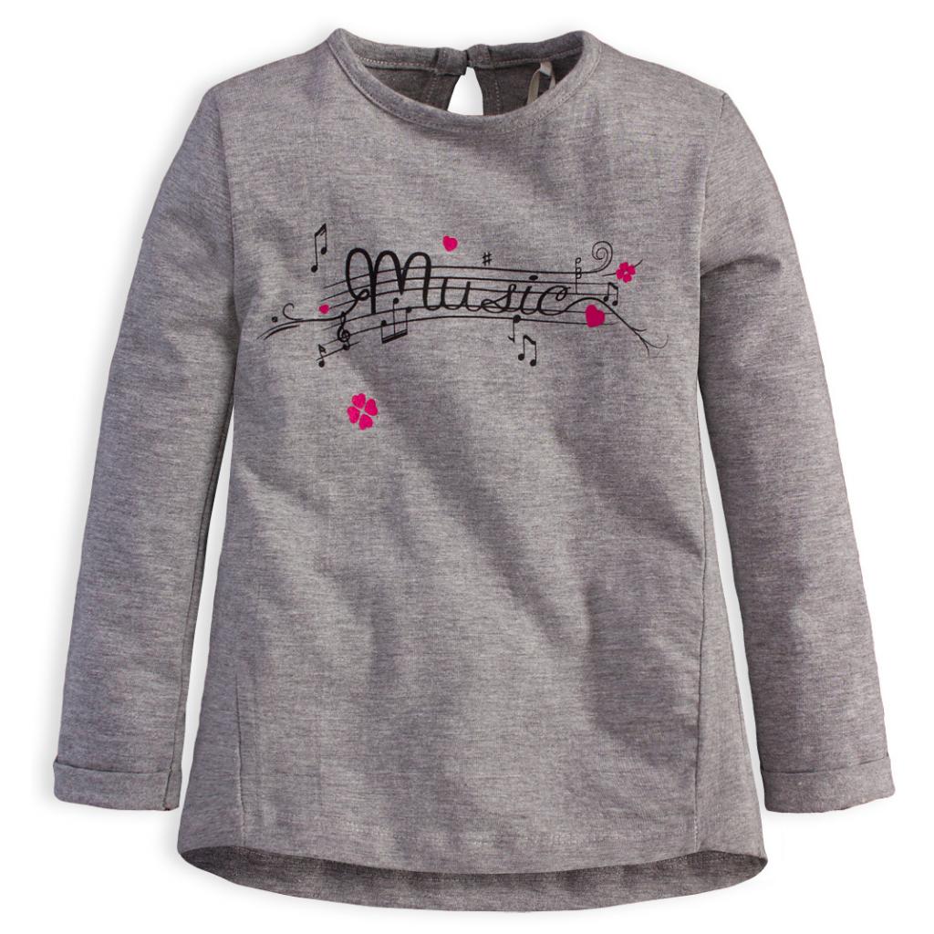 Dievčenské tričko KNOT SO BAD MUSIC šedé