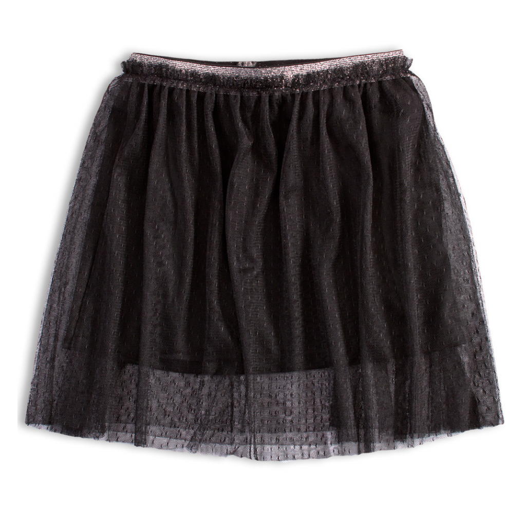 Dievčenská tylová sukňa KNOT SO BAD BLACK STAR čierna