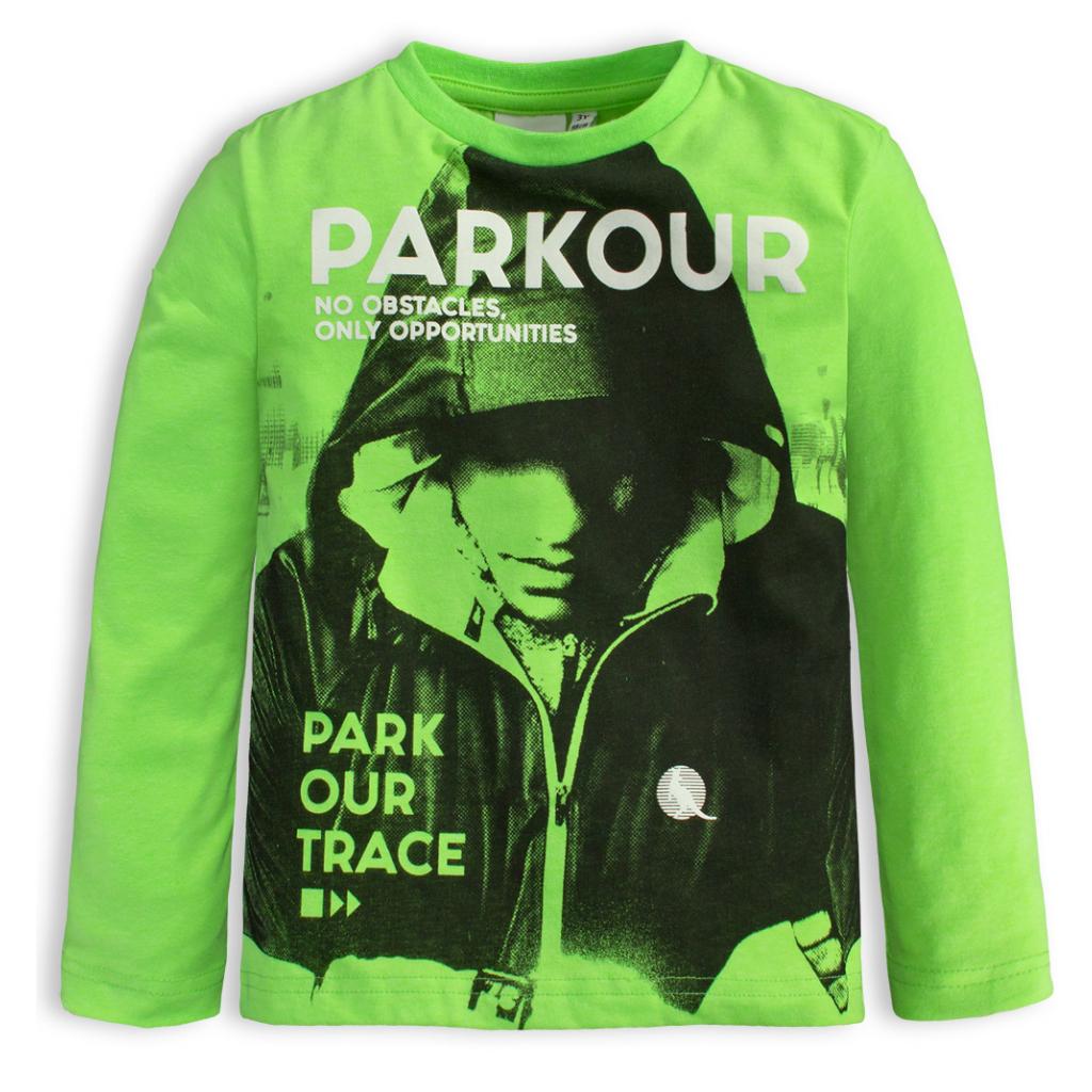 Chlapčenské tričko CANGURO PARKOUR TRACE zelené
