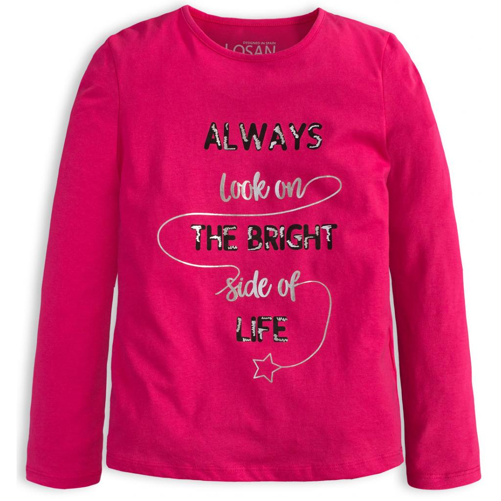 Dievčenské tričko LOSAN BRIGHT SIDE ružové