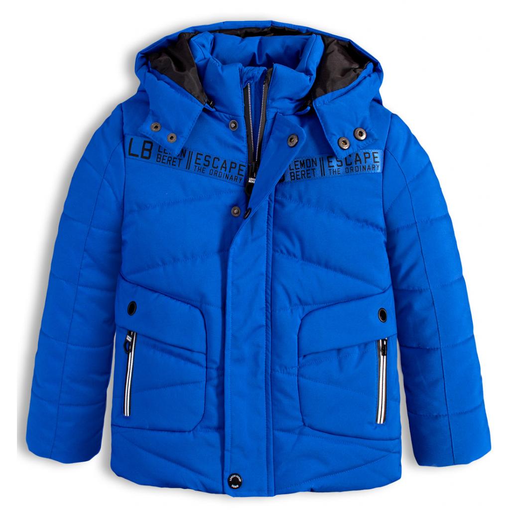 Chlapčenská zimná bunda LEMON BERET ESCAPE modrá