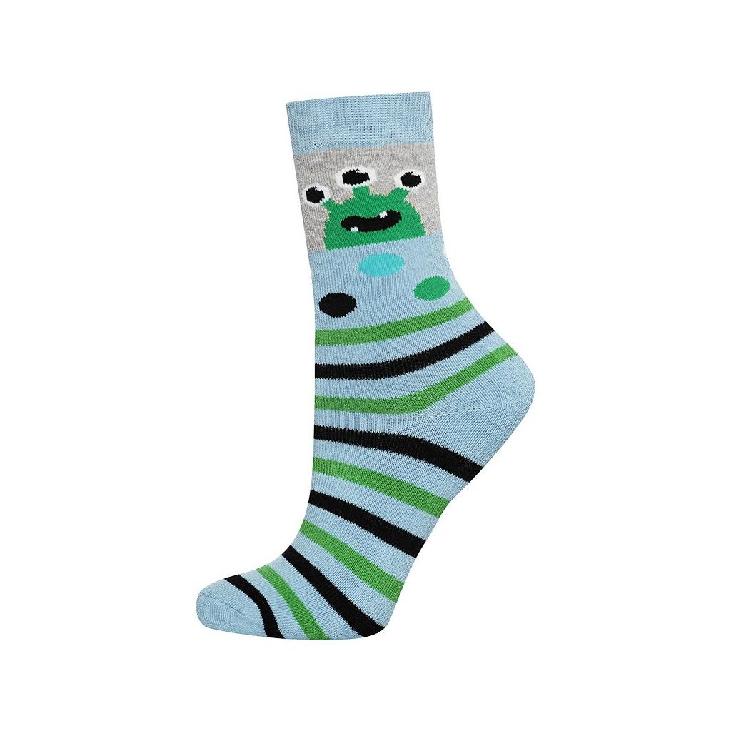 Detské termo ponožky SOXO UFO svetlo modré