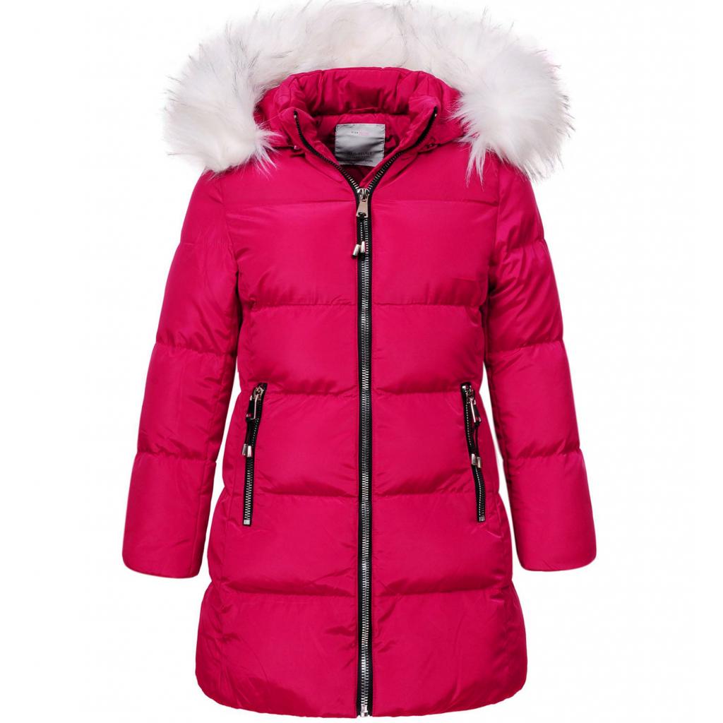 Dievčenský zimný kabát GLO STORY SILVER tmavoružový