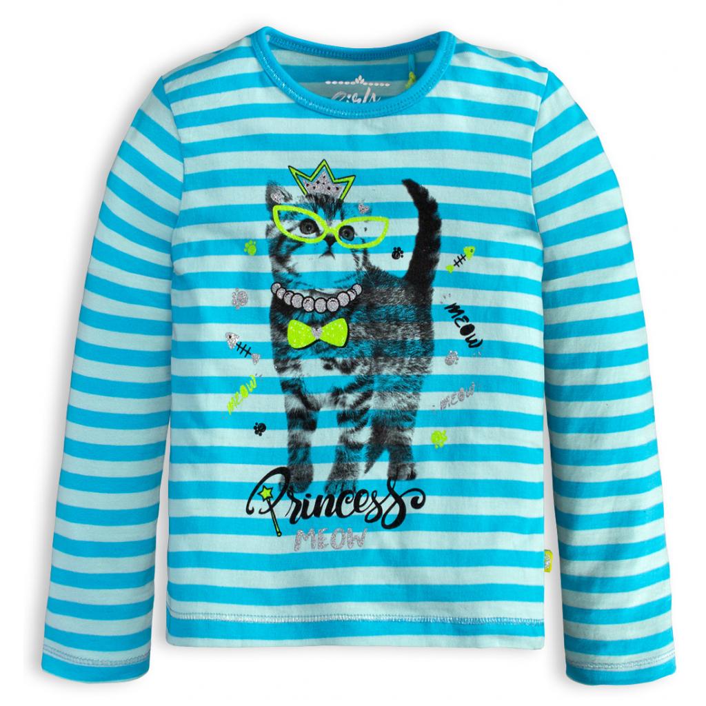 Dievčenské tričko LEMON BERET MAČIČKA MEOW modré