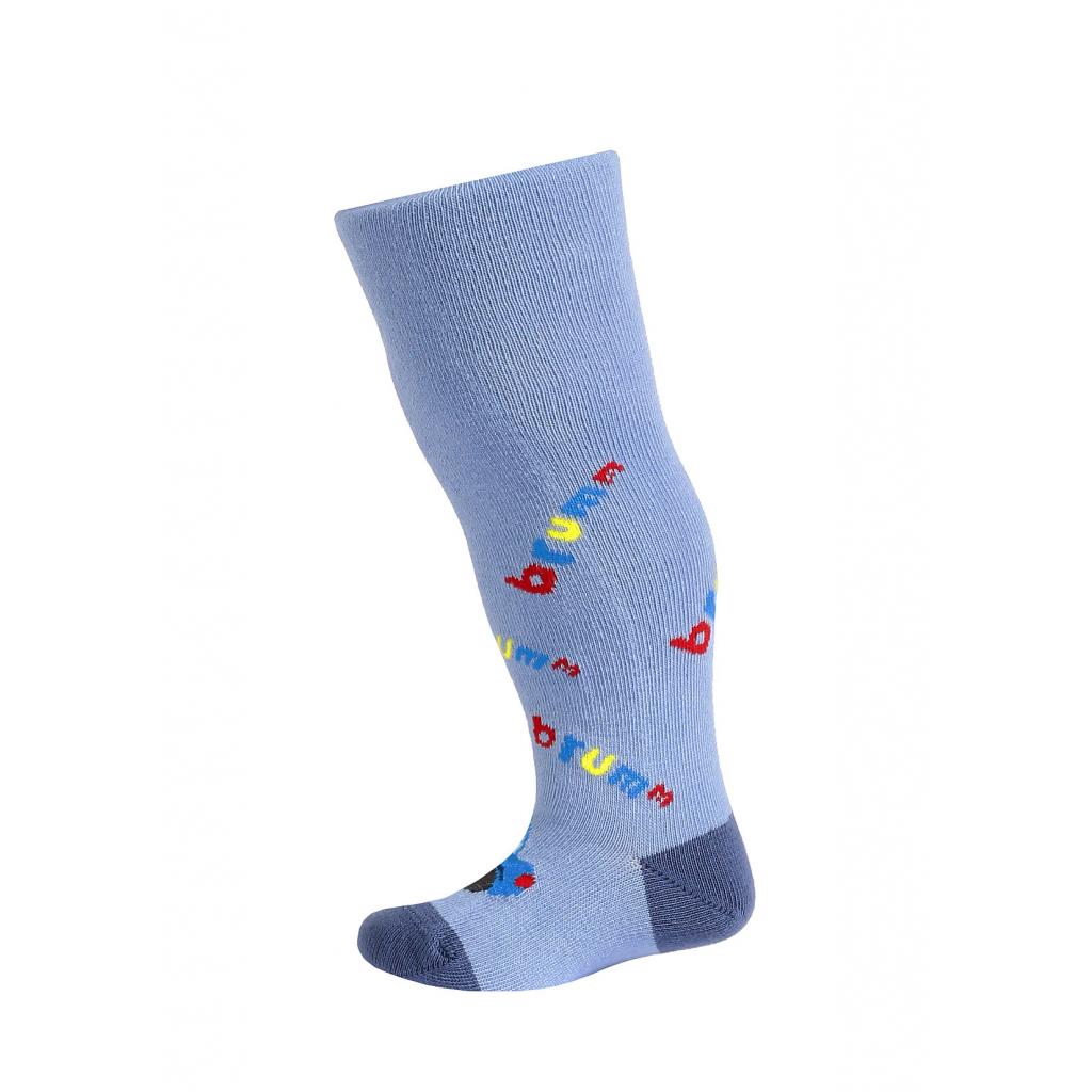 Dojčenské chlapčenské pančuchy so vzorom WOLA BRRRM modré
