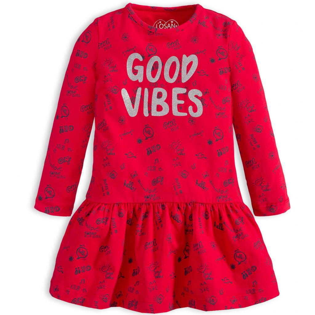 Dievčenské šaty LOSAN GOOD VIBES červené