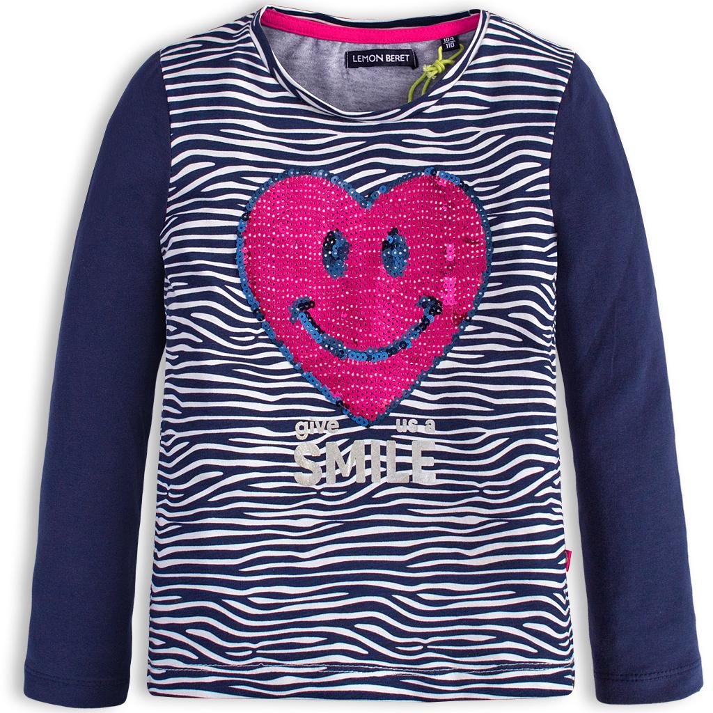 Dievčenské tričko LEMON BERET SRDCE modré
